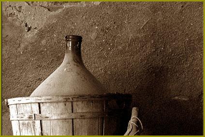Damigiana per la vendita del vino sfuso