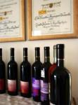 Bottiglie di vino della tenuta Pernice